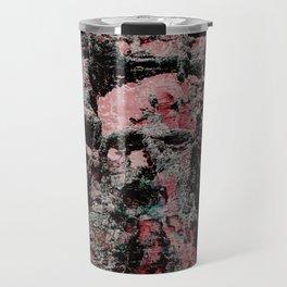 Red Stone Faces Travel Mug
