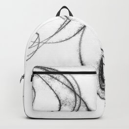 Minimalist Abstract Black and White Line Drawing Backpack