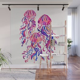 Jellyfish – Magenta Palette Wall Mural