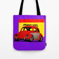 volkswagen Tote Bags featuring VolkSWAGen by Colby Gray