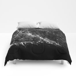 Black Gray Marble #1 #decor #art #society6 Comforters