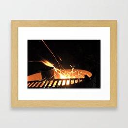 Fire spider Framed Art Print