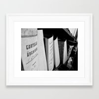 records Framed Art Prints featuring Records by Ashley Lynette Williams
