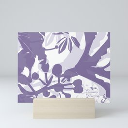 BC lila silhouette Mini Art Print