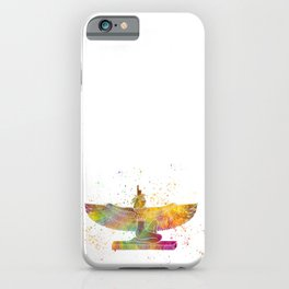 Egyptian goddess isis in watercolor iPhone Case