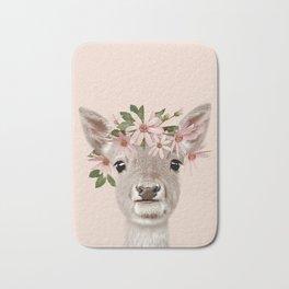 Baby Deer Print, Baby animal, Flower crown, Woodlands Decor, Wall Art, Animals Print, Woodlands Bath Mat