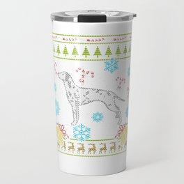 Dalmatian Christmas Ugly Shirt Sweater Ugly Design Travel Mug