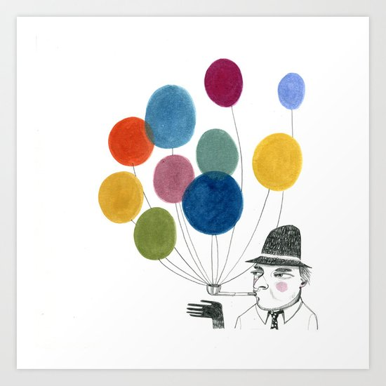 nobody made balloons the way Edward did Art Print
