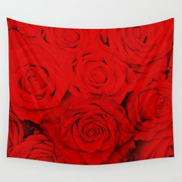 Some people grumble- Floral Red Rose Roses Flowers Wall Tapestry