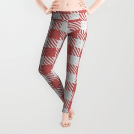 Indian Red Buffalo Plaid Leggings