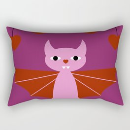 Valentine's Bat Rectangular Pillow