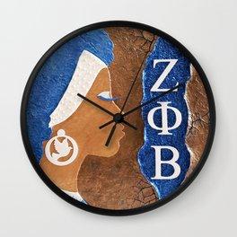 Zeta Phi Beta Sister In Profile II Wall Clock
