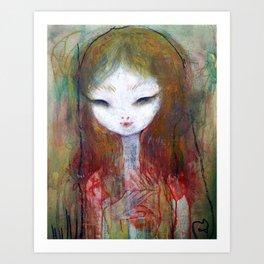 Bloom Eye Art Print