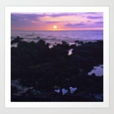 Coral Hearts Art Print