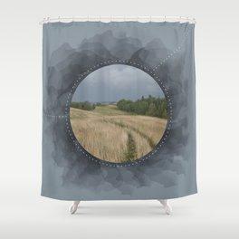 Landscape Series Blue Shower Curtain