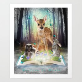 Believe In Magic • (Bambi Forest Friends Come to Life) Art Print