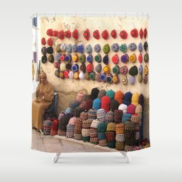 Crochet, Morocco Shower Curtain