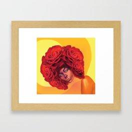 DISCO ROSE Framed Art Print