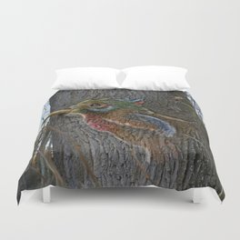 barking bird Duvet Cover