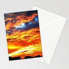 Fantastic Sunset, blue and orange sky Stationery Cards