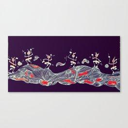 Djidja On Wawes 2 Canvas Print