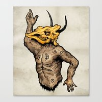 taurus Canvas Prints featuring Taurus by sociopteryx