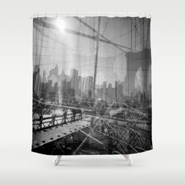 Brooklyn Bridge 3x Shower Curtain