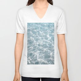 Crystal Clear Blue Water Photo Art Print   Crete Island Summer Holiday   Greece Travel Photography Unisex V-Neck