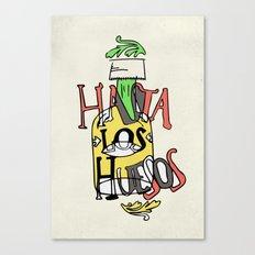 Hasta los Huesos Canvas Print