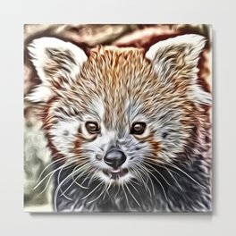 Impressive Animal - red Panda Metal Print