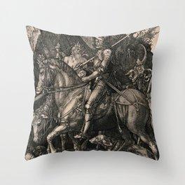 Knight Death And The Devil Albrecht Durer Throw Pillow