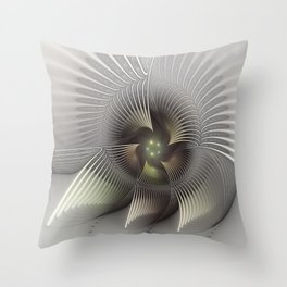 Stand Up, Abstract Fractal Art Throw Pillow