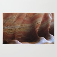 utah Area & Throw Rugs featuring Utah Sandstone by  Rachel M Post
