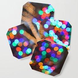 a bokeh christmas Coaster