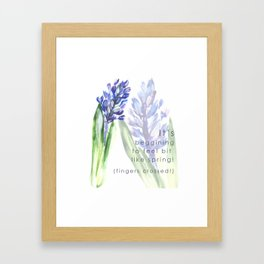Hyacinth flowers Framed Art Print