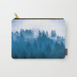 Blue Winter Day Foggy Trees Carry-All Pouch
