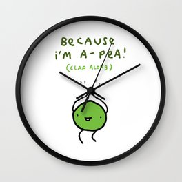 Happy Pea Wall Clock