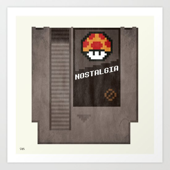 Nostalgia in a Nintendo Cartridge Art Print
