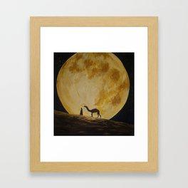 Travelling in Moonlight Framed Art Print