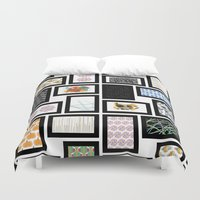 frames Duvet Covers featuring Wall of Frames by Natalie North