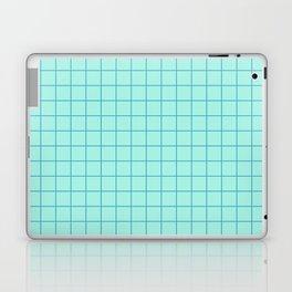 Grid Pattern - aqua and teal - more colors Laptop & iPad Skin