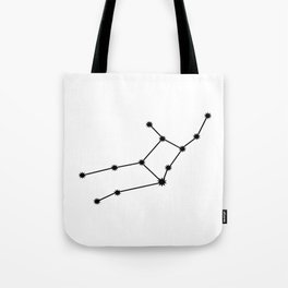 Virgo Star Sign Black & White Tote Bag
