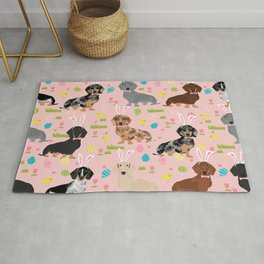 Dachshund easter spring dog costume pet portrait dog breed doxie Rug