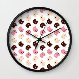 Cookie Cat Neapolitan Wall Clock