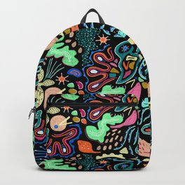 Underwater Life Sea Landscape Ocean Biodiversity Hand Drawn Bohemian Backpack