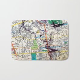 Map a Girl Bath Mat