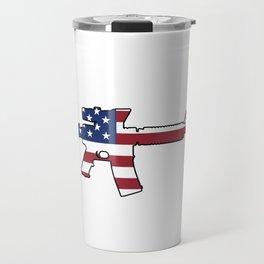 American Flag: M4 Assault Rifle Travel Mug