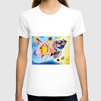 kandinsky T-shirts featuring Yellow Red Blue - Tribute to Kandinsky by ArtvonDanielle