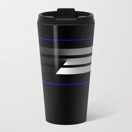TEAM COLORS 5...Black,gray and white Travel Mug
