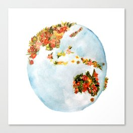 Blooming Earth Canvas Print